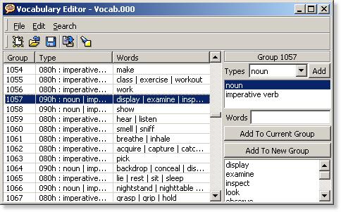 Vocabulary Editor